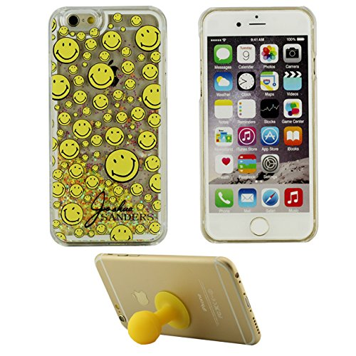 iPhone 6S Plus Coque, London Motif Flowable Cœur Liquide Eau Conception Clair Transparent Rigid Housse Case Pour Apple iPhone 6 Plus / 6S Plus 5.5 inch + Silicone Titulaire color-5