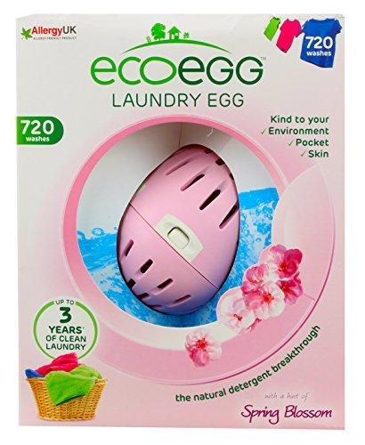 Ecoegg Detergente ecológico en perlas para lavar la ropa (hasta 720 lavados, aroma de flores), diseño de huevo