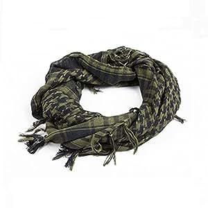 Distinct® Sciarpe militare antivento sciarpa uomini musulmani Hijab sottile Shemagh tattico scialle arabo keffiyeh