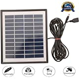 Dshine 4W11V Solar Panel with 5 Meter Cable | Solar USB Mobile Charger | Waterproof Camping Travel Charger Compatible