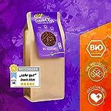 Bio Kakaonibs mit Yacon Sirup 200g, Edle Kakaosorte Criollo, Rohkost-Qualität, für Diabetiker geeignet