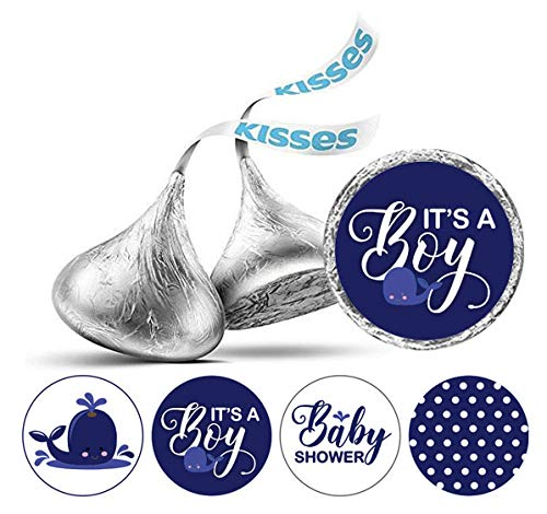 Darling Souvenir Hershey Kisses Schokolade Labels 190 PC-Baby-Jungen-Duschen-Thema Aufkleber-Marine-Blau