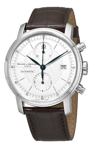 BAUME ET MERCIER CLASSIMA EXECUTIVES MOA8692 GENTS BROWN CALFSKIN DATE WATCH