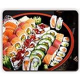Yanteng Tapis de Souris de Jeu Tapis de Souris, Rouleaux de sushis Assiette de Poisson Plaque de Viande, Game Office MousePadP0094