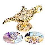 BTSKY Classic Luxus Magical Aladdin Lampe mit Geschenk-Box–Exquisite Retro Aladdin Magic Genie Licht, Vintage Home Office Dekoration Dekor Tischplatte Crafts, Beige