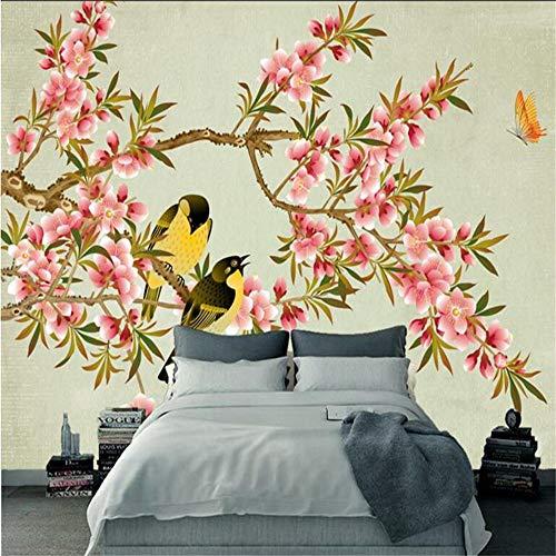 Sucsaistat Animierte Desktop Wallpaper Blume Wanddekor Chinesische Handgemalte Vogel Tapete Vögel Home Room, 250 * 175Cm