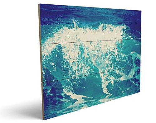 Angel Heaven's Kostüme (Die Welle, qualitatives MDF-Holzbild im Drei-Brett-Design mit hochwertigem und ökologischem UV-Druck Format: 100x70cm, hervorragend als Wanddekoration für Ihr Büro oder Zimmer, ein Hingucker, kein Leinwand-Bild oder)