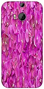 Snoogg Butterfly On Flowers Designer Protective Back Case Cover For HTC M8