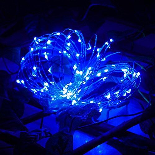 Cramberdy String Lichter LED Lichterkette, Weihnachtsbaum Deko, 2M 20LED Knopfzelle Silber Silber Kupferdraht Mini Fairy String Lights für Garten, Party Home Schlafzimmer Dekoration
