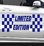 EtikettenStar Dunkelblauer 300x130mm Limited Edition Aufkleber für Auto, Motorrad,Mofa,Laptop,Koffer UVM waschanlagenfest