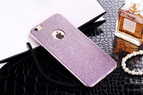 Coque Pour iPhone 5/5s, iNenk® TPU Mous Phone affaire mince givré Shell mode Diamant luxe téléphone couverture créatifs manchon de protection pour les femmes-Bleu Purple