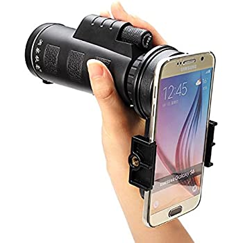 M.Way Téléobjectif Zoom Lentille Optique 10x40 Caméra Lens Universal Télescope Optique
