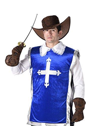 Imagen de disfraz de mosquetero azul hombre alternativa