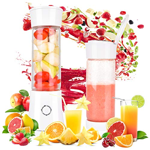 51o3PfdJVtL. SS500  - Tyhbelle Portable Blender, Travel Blender 480ML USB Rechargeable 100W Juicer Mixer Mini Personal Fruit Blender Smoothie Maker with 6 Stainless Steel Blades for Home,Office,Outdoors