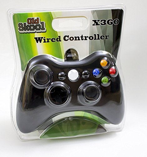 Old Skool Xbox 360 Wired USB Controller for PC / Xbox 360 (Black) (Controller 360 Xbox Black Wired)