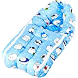 BAYBEE Unisex Printed Comfo Sleeping Cum Carry Bag (Blue, 0-6 Months)