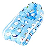 BAYBEE Unisex Printed Comfo Sleeping Cum Carry Bag | Baby Cotton Bed Cum Sleeping Bag 58 x 28 x 12 cm (Dark Blue)