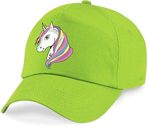 laylawson Einhorn-Baseballmütze Mädchen Kinder Sommer Hut (Einheitsgröße, Lime Green)