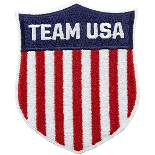 Team USA Patch (7.5cm) brodée fer à repasser ou à coudre badge United States Jeux Olympiques Shield Applique souvenir DIY Costume Olympique Anneaux Logo