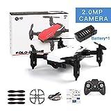 Mini Drone con fotocamera,RC/telecomando giocattolo,Altitude Hold RC Droni con fotocamera HD Wifi FPV Quadcopter Dron RC Helicopter VS Z1, JDRC JD-16, HDRC D2, SM M1 Bianco da fotocamera 2.0MP WiFi