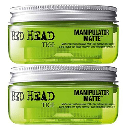 Tigi Bed Head Manipulator Matte Doppelpack 2 x 57,5 g Matte Styling-Paste mit starkem Halt zum Vorteilspreis (Bed Head Styling Paste)