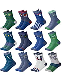MC.TAM® Jungen Mädchen Kinder Bunte Socken Strümpfe 12 Paar 90% Baumwolle Oeko Tex® Standard 100