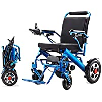 Silla de ruedas eléctrica plegable, silla de ruedas ligera de aleación de aluminio plegable, con un solo botón.