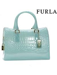 Bolso maletín FURLA - Azul claro RUGIATA