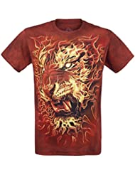 The Mountain Fire Tiger T-shirt rouge