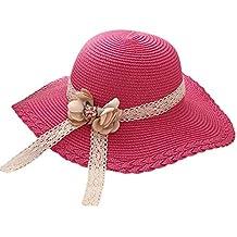 Screenes Sombrero para El Flores Paja De Sol Sombrero De Encaje Estilo  Simple Decoración Plegable ala d1fa39b4cdf4