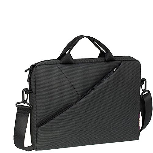 """RIVACASE Tasche für Notebooks bis 13.3"""" – Sehr flache Laptoptasche mit gepolsterten Fächern und viel Stauraum – Grau"""