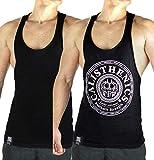 Great.Vibes.Ahead® Premium Tank Top Herren | Calisthenics, Fitness und Bodybuilding Muscle Shirt für Herren | Gym Tank Top aus Hochwertigem Stoff mit gewebten Label | Limited Edition