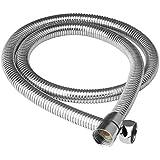 QUICK SILVER Stainless Steel Flexible Shower Tube (Chrome Finish)