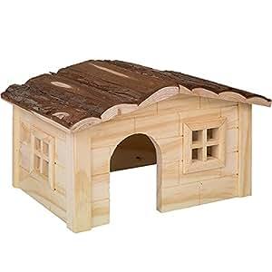 Nobby Woodland-dinki Maisonnette en Bois pour Rongeur 20 x 14 x 12 cm
