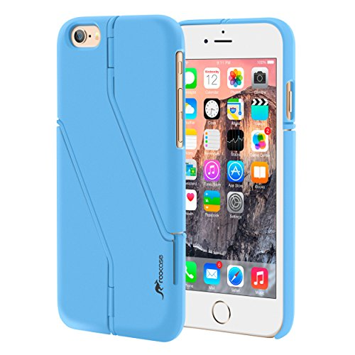 iPhone 6s Case, roocase iPhone 6 Slim Fit Kickstand [Switchback Series] Case PC Hard Shell Cover for Apple iPhone 6 / 6s (2015), Purple Blue
