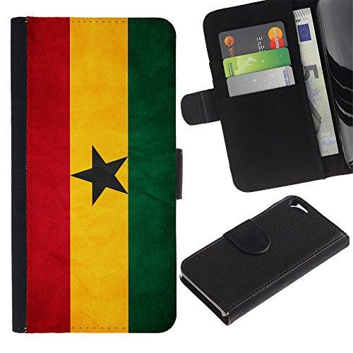Graphic4You Vintage Uralt Flagge Von Südafrika South Africa Design Brieftasche Leder Hülle Case Schutzhülle für Apple iPhone SE / 5 / 5S Ghana Ghanaer