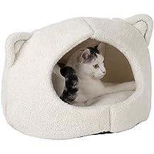 Kitty Cat den con diseño y orejas, extraíble cojín