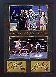 SGH SERVICES Poster, gerahmt, Conor McGregor Floyd Mayweather Jr UFC MMA, Fotoposter mit Rahmen, MDF