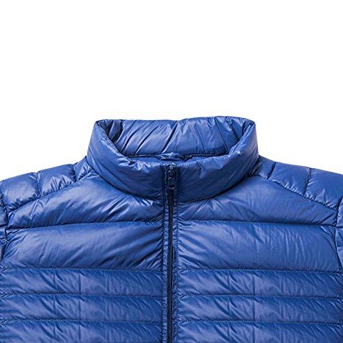 Meijunter Homme Respirant Chaud Sous-Vêtement Coupe-vent Doux Hiver Coat Outwear blue