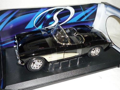 Maisto Chevrolet Chevy Corvette C1 C 1 1957 Cabrio Schwarz 1/18 Modellauto Modell Auto