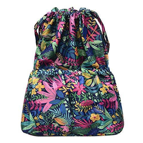 Lenfesh Mode Frauen gedruckt Umhängetasche Kürbis Freizeittasche mit großer Kapazität Reisetasche Ntional Wind Rucksack Reisetasche Schultasche Retro Folk Stil Canvas Tasche Rucksack -