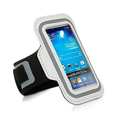 Moon Monkey EaseFit Schweißfest Neopren Sportarmband für iPhone 5, 5S, 5C und iPod Touch 5. Generation (weiß)