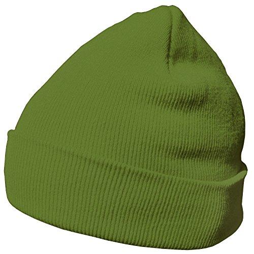 DonDon Wintermütze Mütze warm klassisches Design modern und weich limettengrün