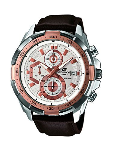 CASIO-EDIFICE-Mens-Quartz-Watch-with-White-Dial-Analogue-Display-and-Brown-Leather-Strap-EFR-539L-7AVUEF