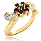 Forever Carat 18k Gold ring diamond rings gemstone ring for women