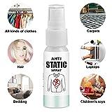 Spray antistatico per abbigliamento, rimozione statica di alta qualità per armadio per lavanderia, 30 ml / 100 ml