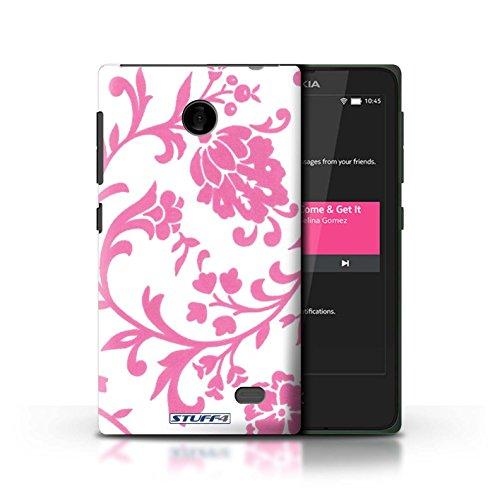 Kobalt® Imprimé Etui / Coque pour Nokia X / Fleurs Bleue conception / Série Motif floral Fleurs Rose