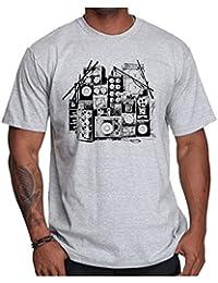 OM3 - MUSIC BOX - T-Shirt DJ BOOM Rockabilly Rap Hip Hop House Rock PUNK INDIE RnB, S - 5XL