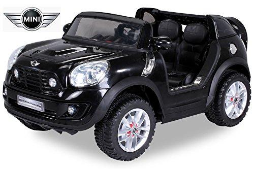 *NEU Kinder Elektroauto Lizenzierter Original BMW Mini Beachcomber Lizenziert 2 x 45 Watt Motor Elektro Kinderauto Kinderfahrzeug (schwarz)*