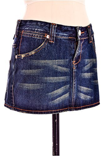 Damen love-worn Wash Mini kurzer Mini Jeans Rock in size 4 6 8 10 12 und Farbe Luna blau - brentyn blau, 6 (Mini Distressed Jean)